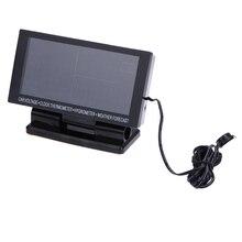 Multifunctional LCD Digital Clock Car Voltmeter Thermometer Hygrometer Weather Forecast Car Clocks