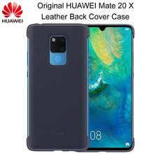 Original HUAWEI Mate 20 X Back Cover Case Official PU Leather magnetic conductive Case For 7.2 inch Mate 20X