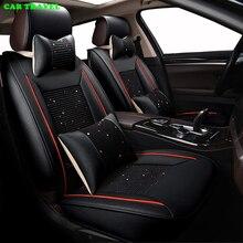 TRAVEL CAR set cubierta de asiento de coche de seda del hielo para SsangYong Korando Actyon Kyron Rexton Presidente asientos de coche protector amortiguador del coche