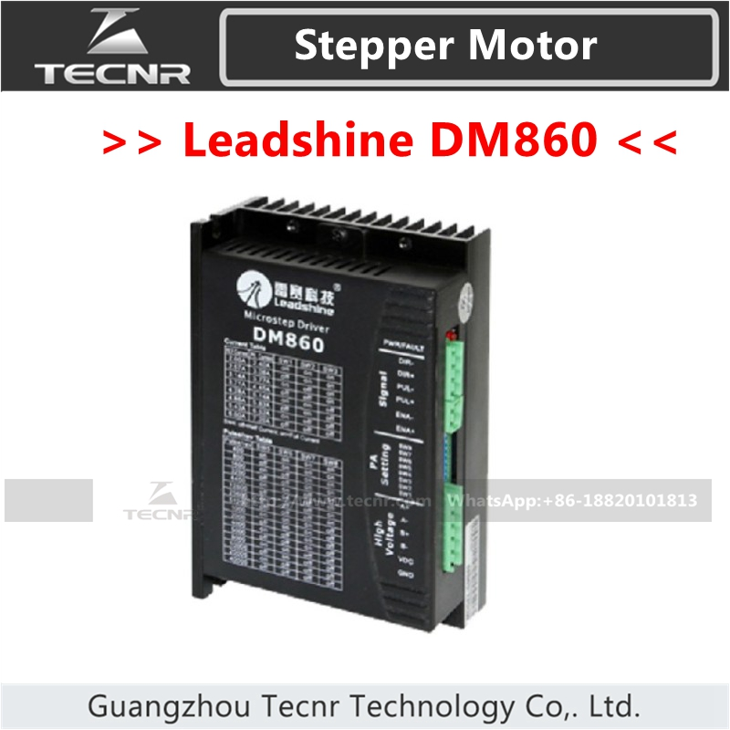 Leadshine DM860 Stepper Driver raplace M860 DC18-80V For 2 Phase Nema23 Nema34 Stepper Motor leadshine am882 stepper drive stepping motor driver 80v 8 2a with sensorless detection
