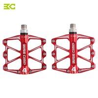 2PCS BC 688 Mountain Bike Bicycle Pedal MTB Flat Pedals Aluminum Alloy 4 Ball Bearings Accessory