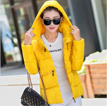 Korean New Style Fashion Women Winter Coat Elegant Hooded Thick Warm Cotton Down jacket Womens Big yards Slim Short Coat G2137