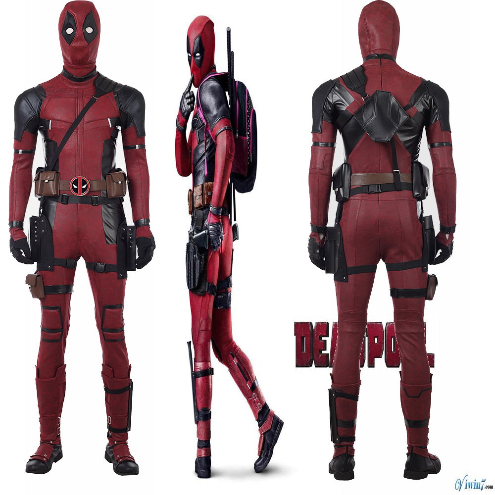 Original Latest Deadpool 2 Cosplay Costume Jumpsuit Shoes Halloween Suit Any Size Custom Made Deadpool Cosplay Costume