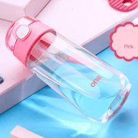Crianças portátil grande capacidade 500ml ourdoor esporte crianças bebendo pote plástico limpo saudável pouco bebê garrafas de água potável