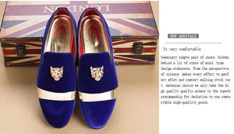 As Slip Orteils Patchwork Appartements Royal Daim En Pic Pointés Solide Mocassins Business Hommes Casual on Chaussures De bleu Gommino Métal Mocassin Richelieus Robe Hr5BHq