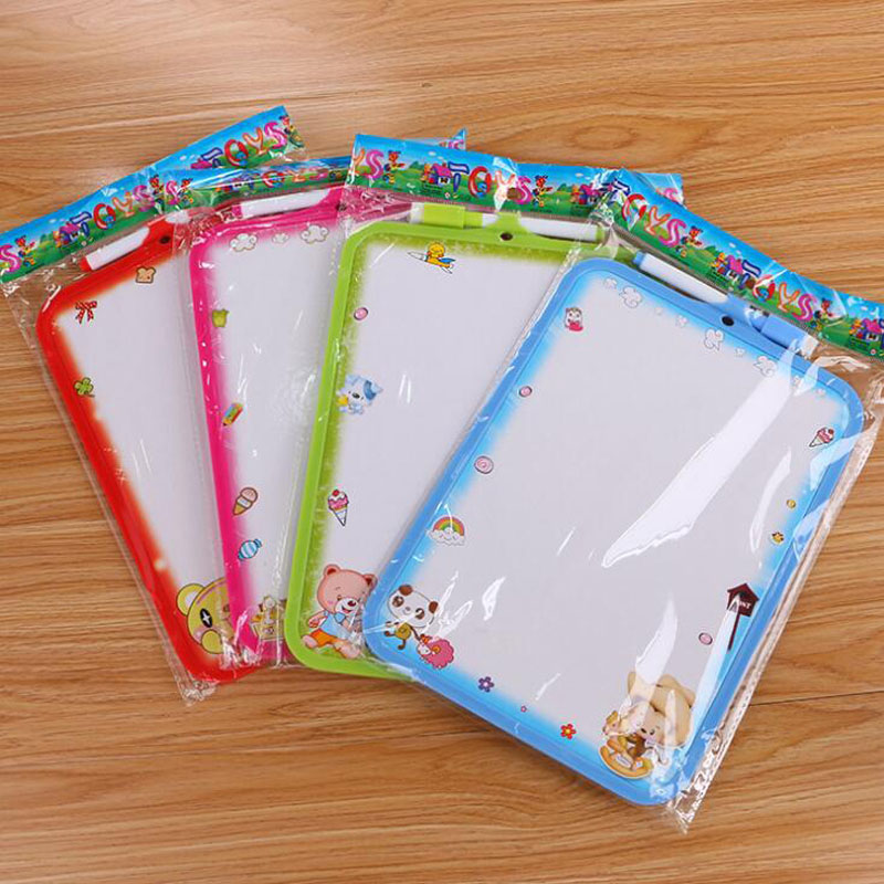 White Board Cartoon Small White Board Felt Whiteboard Message Board Quality Children'S Student Practice Drawing Board Stationery