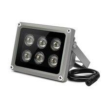 YiiSPO Массив ИК осветитель инфракрасная лампа 6 шт. Массив Led IR Открытый IP65 Водонепроницаемый ночного видения для камеры видеонаблюдения 90-60-45degree
