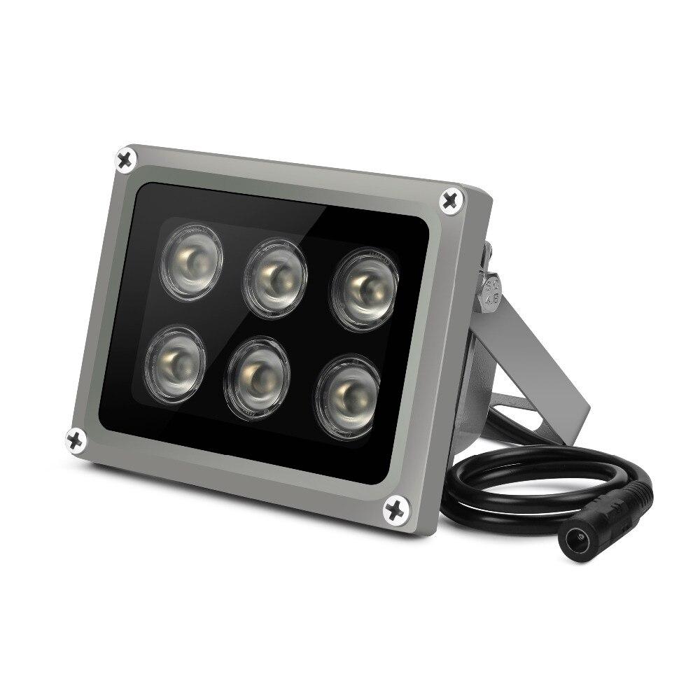 YiiSPO Array IR illuminator infrared lamp 6pcs Array Led IR Outdoor IP65 Waterproof Night Vision for CCTV Camera 90-60-45degree
