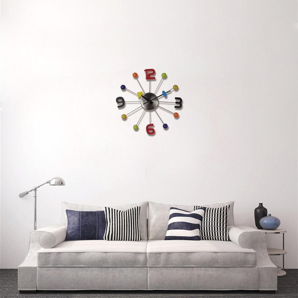 2018 Hot Metal Wall Clocks Modern Design Reloj De Pared Wall Watches ...
