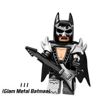 Single Sale Super Heroes Star Wars 111 Glam Metal Batman Model Building Blocks Figure Bricks Toys gift Compatible Legoed Ninjaed(China)