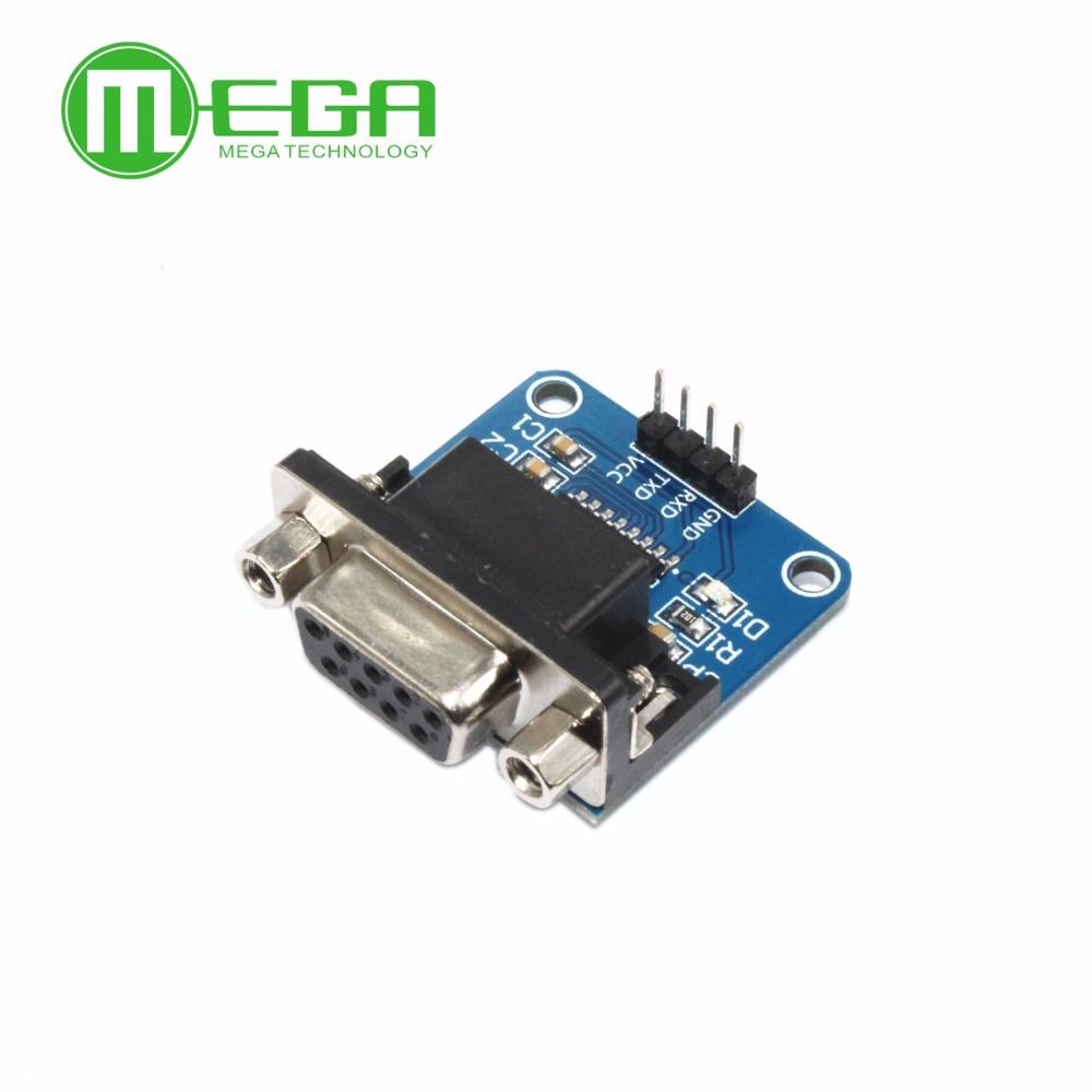 10pcs/lot MAX3232 RS232 To TTL Serial Port Converter Module DB9 Connector MAX232