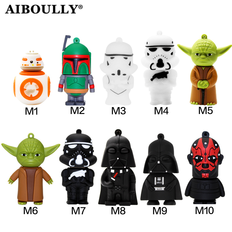 Usb Stick 4gb 8gb 16gb 32gb 64gb Flash Memory Stick Pendrive Mini Star Wars USB Flash Drive Mini Gift U Disk For Tablet PC