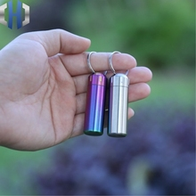 F5 Small Medicine Bottle EDC Stainless Steel Mini Waterproof Warehouse 304 Sealed Elderly Rescue Pills First Aid Kit