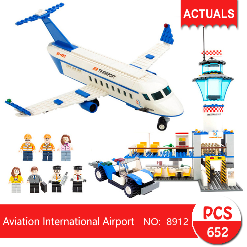 gudi 8912 652Pcs City series Aviation International Airport Model Building Blocks Bricks Toys For Children Gift gudi new private aircraft passenger airport building blocks bricks boy toy compatible with kids toys for children gift