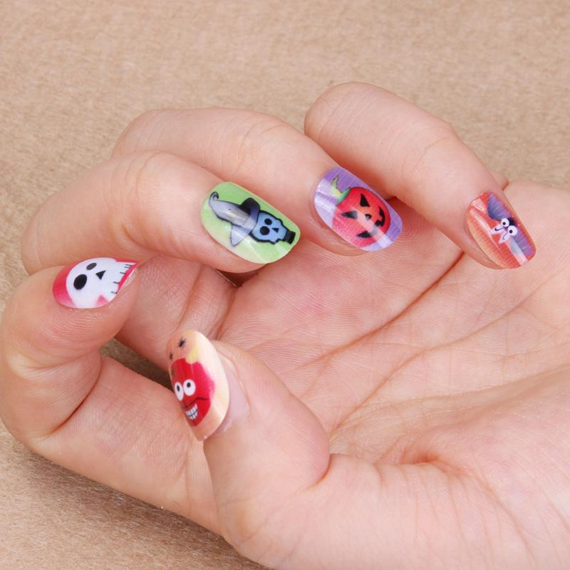 12pcs Halloween Ghost DIY Nail Art Stickers Kids Pregnant Woman Decoration Tips Decals Tools