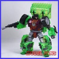 MODELLO TIFOSI Devastator IN-STOCK NBK TF Trasformazione robot ko versione gt Raschietto di Devastator Trasparente action figure toy
