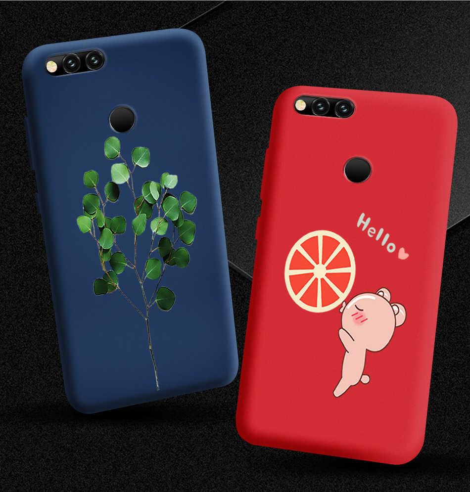 Case Soft Silicone Shell untuk Huawei Kehormatan 7A Pro 7C 7X Matte Beragam Ponsel Case untuk Redmi 5 Plus 5A 6 6A Pergi Slim Hitam