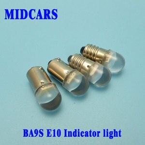MIDCARS alta calidad 6V T4w Ba9s E10 12v LED LIndicator bombilla, 2SMD 2835 LEDs trasera 24V 48V 60V bombilla de la lámpara