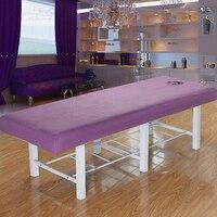 Professionelle Waschbar Akupunktur Massage Tisch Bett Schutzhülle Ausgestattet Pad Blatt Abdeckung Lila Weiß|Massage-Stuhl|Haar & Kosmetik -