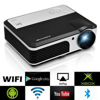 CAIWEI ЖК дисплей дома Кино проектор Android Bluetooth WI FI Беспроводной цифровой светодио дный видеопроектор HDMI VGA USB Поддержка 1080 P видео 3800 люмен