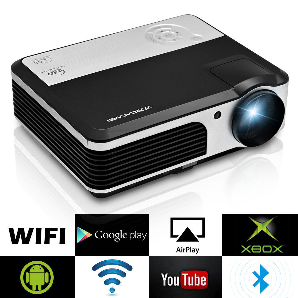 Samsung Beamer Us 247 01 31 Off Caiwei Lcd Home Cinema Projector Android Bluetooth Wifi Wireless Digital Led Beamer Hdmi Vga Usb Support 1080p Video 3800 Lumens In