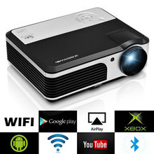 CAIWEI LCD Home Cinema Projector Android Bluetooth WIFI Wireless Digital LED Beamer HDMI VGA USB Support 1080P Video 3800 Lumens