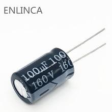 110 יח\חבילה S14 160v 100UF אלומיניום אלקטרוליטי קבלים גודל 13*20 100UF 20%