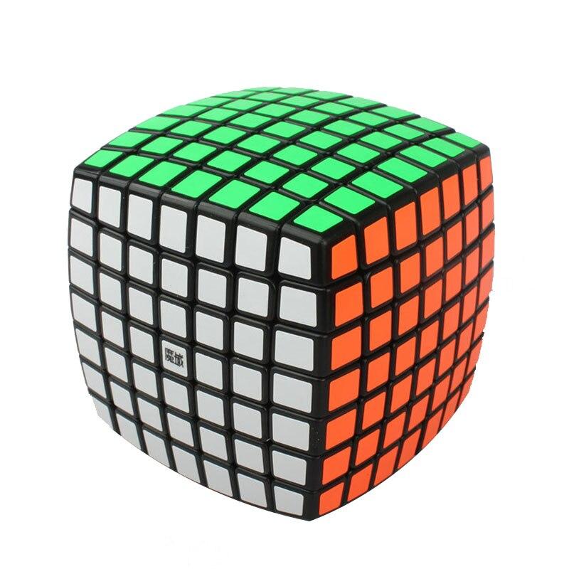 New best-vente cubes magiques fiers pain septième ordre cube noir arc en plastique en plastique Matériel cubes magiques vente