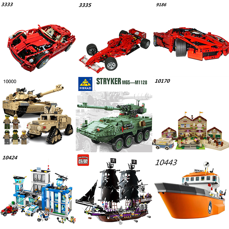 South Korea to buy Technic 1:10 Supercar Car Century Military M1A2 Abrams Tank Police Ship Girls Friends Building Blocks Set