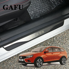 For Lada Vesta door sill stainless steel 4pcs/set car accessories car-styling 2018 2017