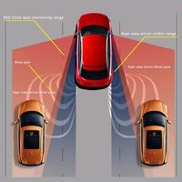 Free postage Car Blind Spot Monitoring BSD BSA BSM Radar Detection System Microwave Sensor Assistant Car Driving Security