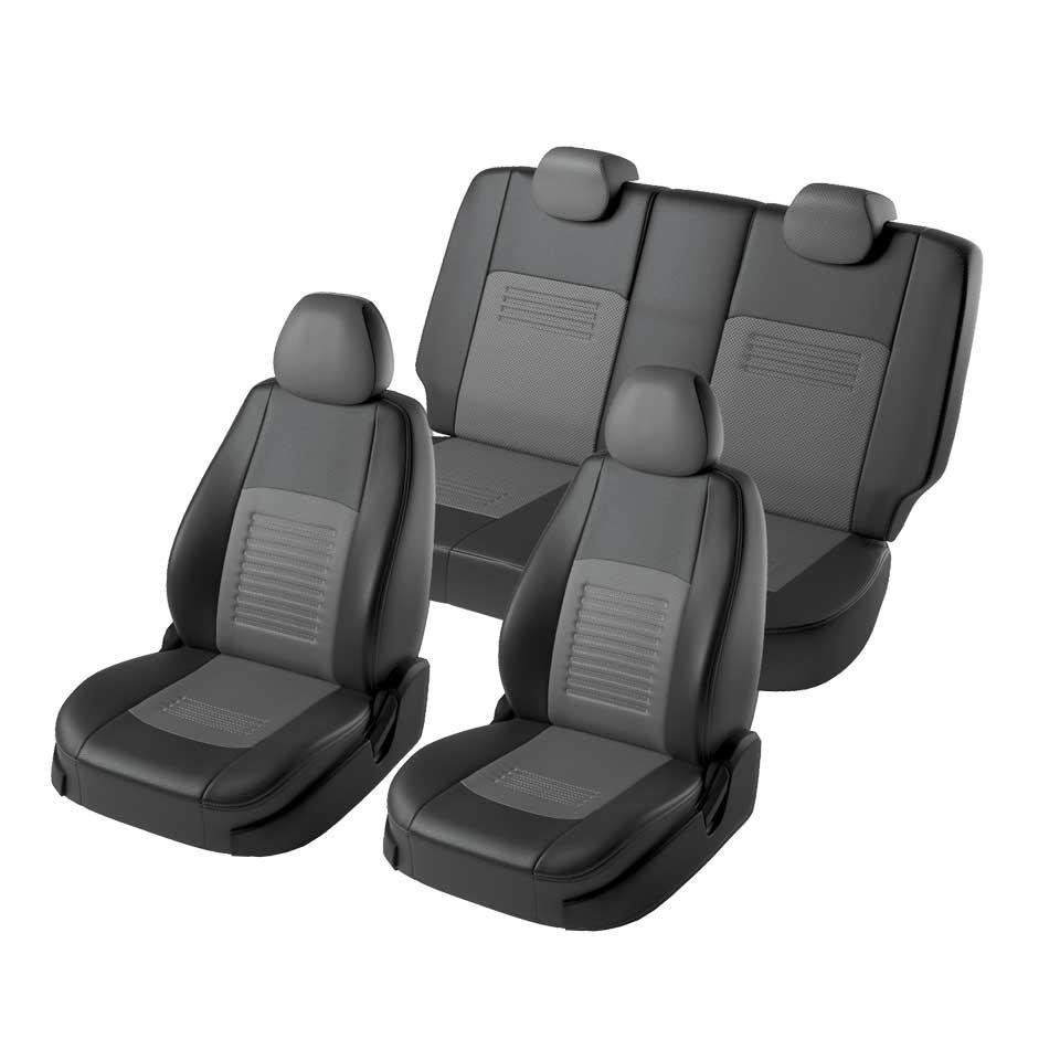 Full set car seat covers fit Nissan Qashqai 2006-2013  black//grey