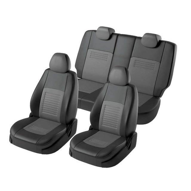 Для Nissan Qashqai J10 2006-2013 комплект модельных авточехлов  (модель Турин экокожа)