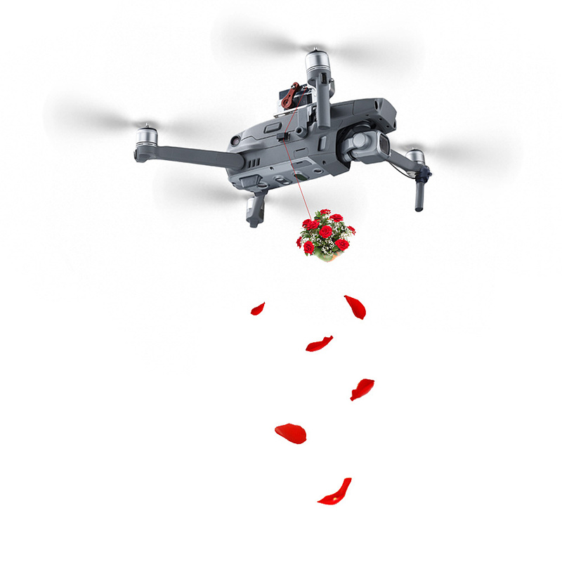 DJI MAVIC 2 Pro Zoom Drone Thrower Delivery Parabolic Air Dropping System Model Fishing Bait for