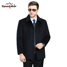 [Speed Hiker] Мужскаое Зимнее Шерстяное платье ,На Открытом Воздухе Человека Пальто из Кашемира , Повседневные Куртки Утолщаются Теплой Шерсти Одежда 2XL 3XL K8119