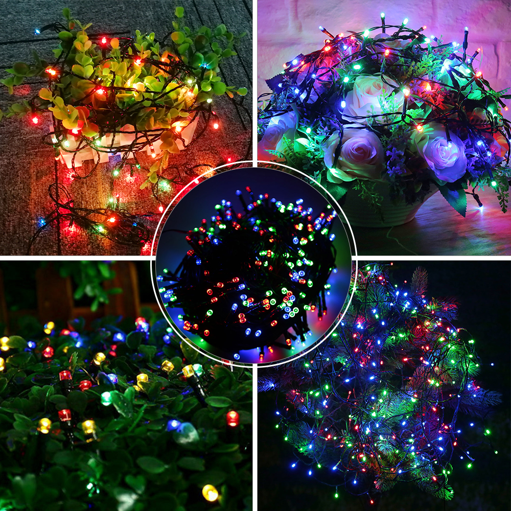 Rgb 8 Modes Christmas Lighting Strings 10 Meters 100