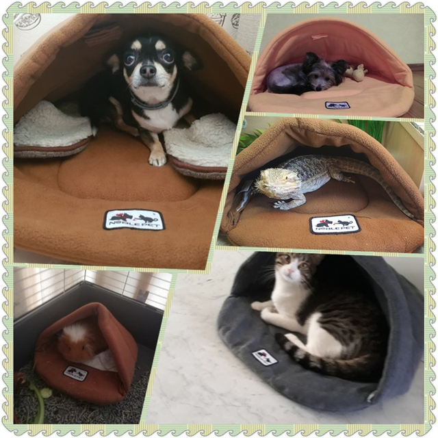 6 Colors Soft Polar Fleece Pet Mat Winter Warm Nest Pet Cat Small Dog Puppy Kennel Bed Sofa Sleeping Bag House Puppy Cave Bed 4