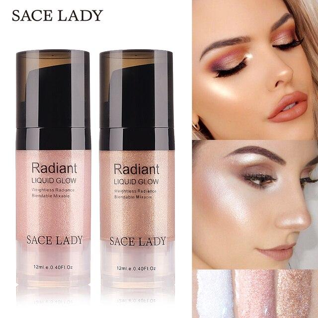 Sace Lady Liquid Highlighter Face Makeup Illuminator Glow Kit Make