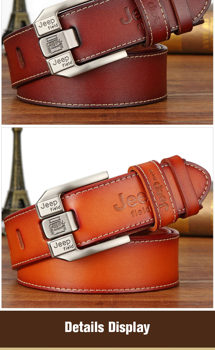 (11)Designer men's belts for men belt genuine leather High quality famous brand Pin Buckle Strap Luxury Male Belts Man Belt Jeans