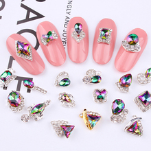 Nail Charm Alloy AB Side Rhinestones (100pcs) 3D Shiny Crystal Diamond Jewelry For DIY Art Tools JC197-216