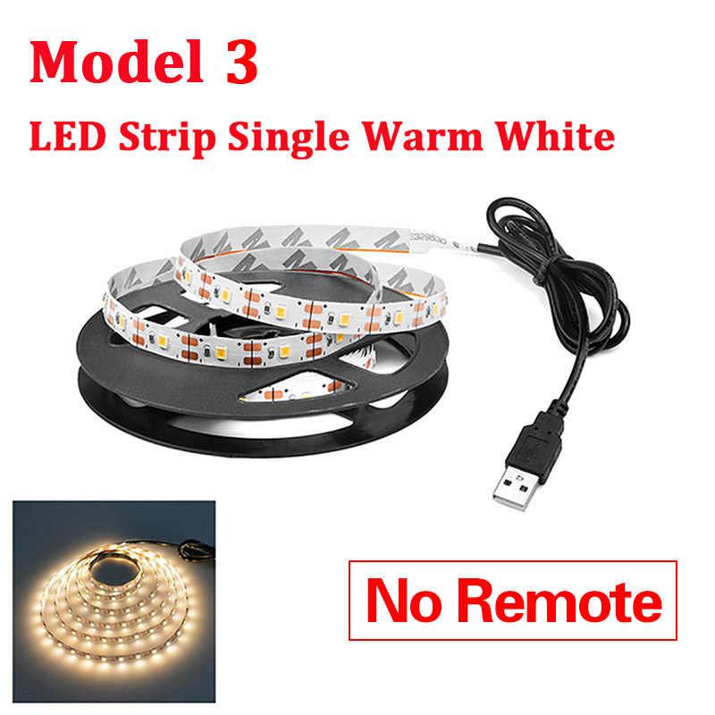 RGB LED אורות 2835 3528 SMD 60LED/M מטבח ארון מנורת LED קלטת 1-5m עמיד למים הרצועה ארון טלוויזיה מחשב קישוט 5V USB כבל