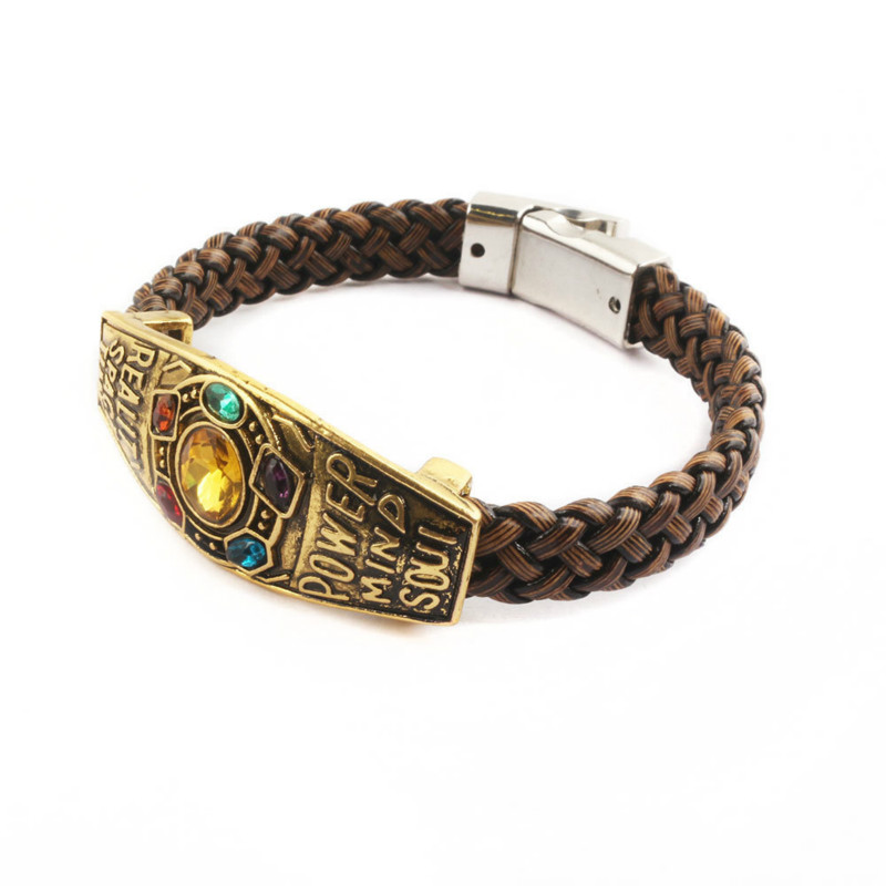032dcbaa0 HOT SALE ~ Movie Avengers: Endgame Thanos Infinity Gauntlet Bracelet  Cosplay Accessories Alloy Props Movie Jewelry Men Women
