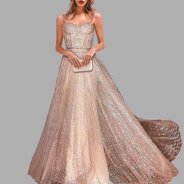 la moitié garantie de haute qualité fournir un grand choix de Mode Sexy fête flash robe soiree sans manches Condole dîner robes or de bal  abiye elbise soirée abendkleider