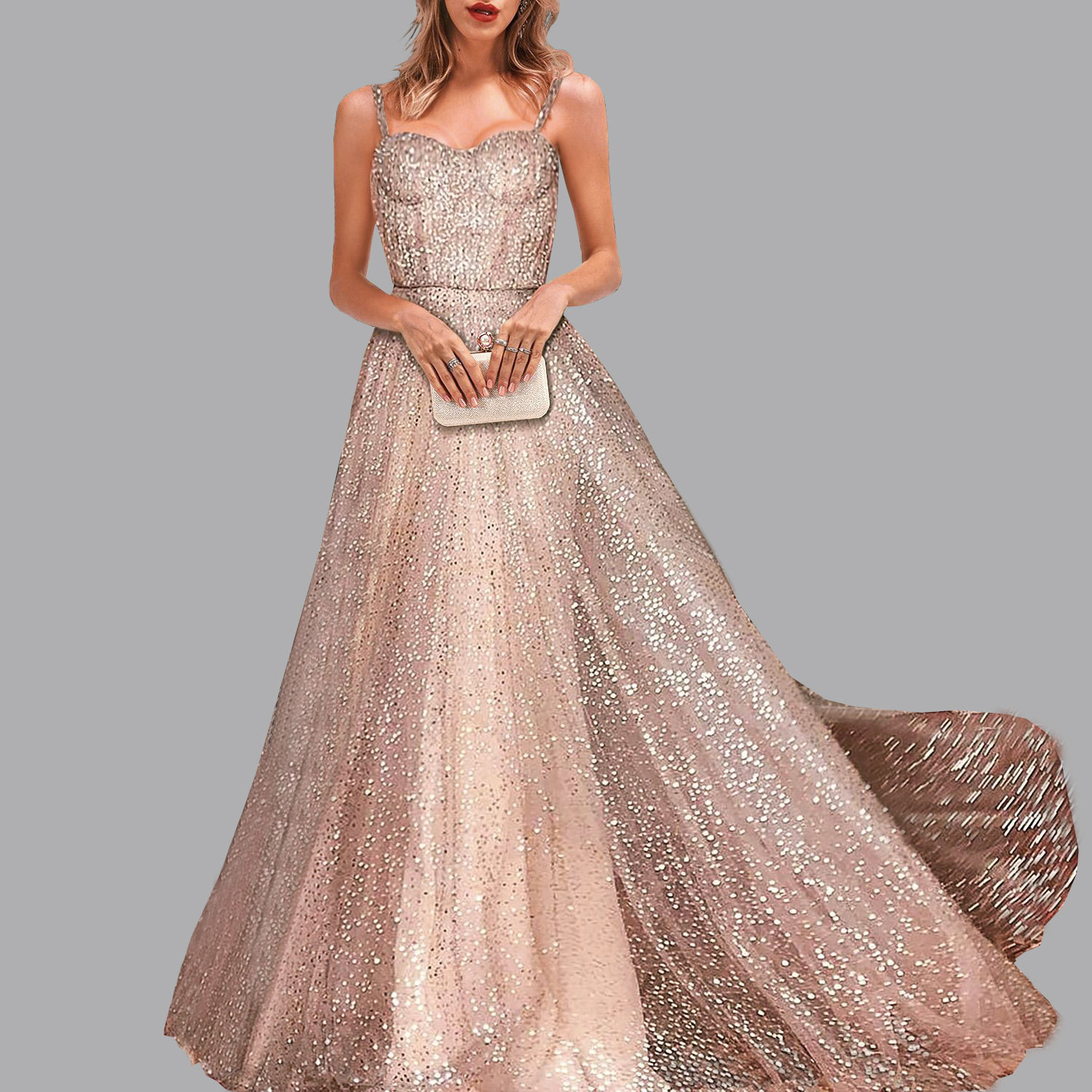 fashion Sexy Party flash robe soiree Sleeveless Condole dinner   Dresses   Gold Prom Gown abiye elbise   evening     dresses   abendkleider