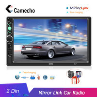 Camecho 2 din Radio Car 7 HD Autoradio Mirror Link For Android/IOS Auto Multimedia Support Backup Camera Audio Stereo Player