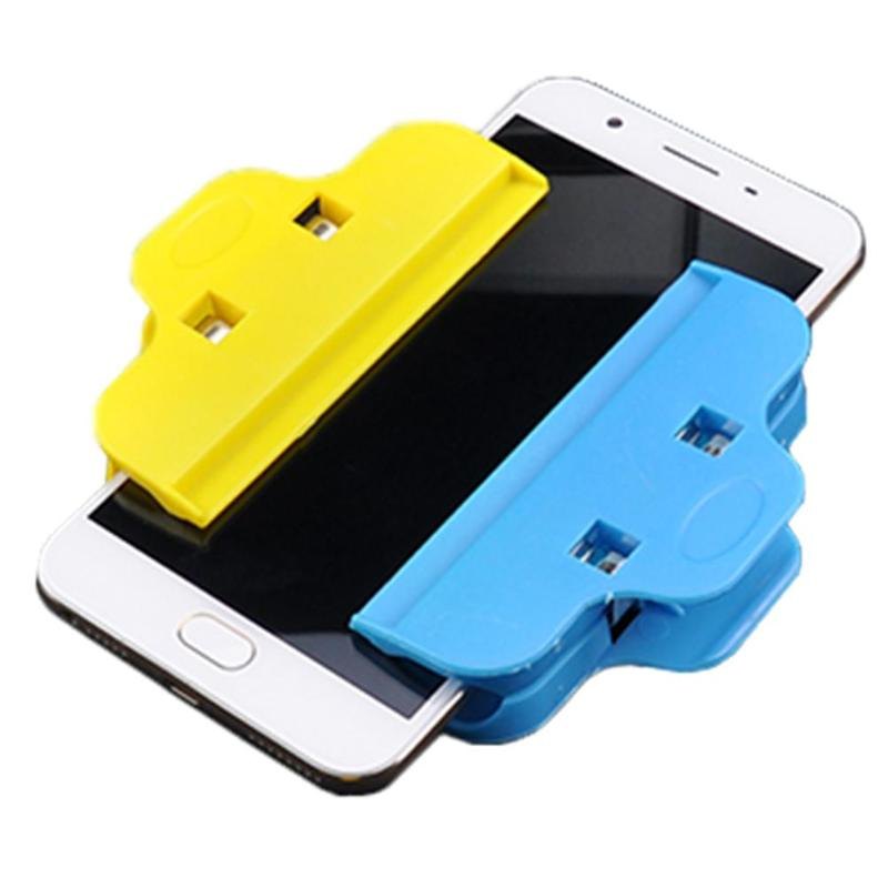 4pcs Mobile Phone Repair Tools Plastic Clips Fixture Fastening Clamps For Tablet Phone LCD Screen Blue Yellow