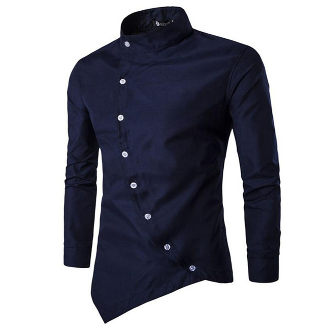 New Men's Casual Shirt Long Sleeve Business Collar designer dress ...