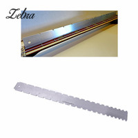 Zebra Electric Bass Guitar Steel Neck Straight Edge Notched Luthiers Tool For Fretboard Stringed Instruments Parts