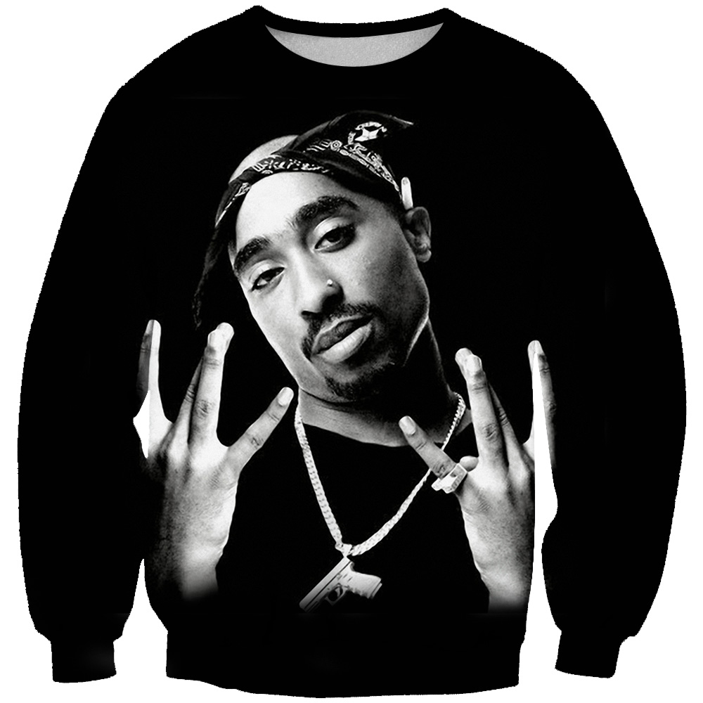 BZPOVB 3d Hoodies Pullovers Tupac Rapper-2pac Men/women Harajuku Print Autumn O-Neck