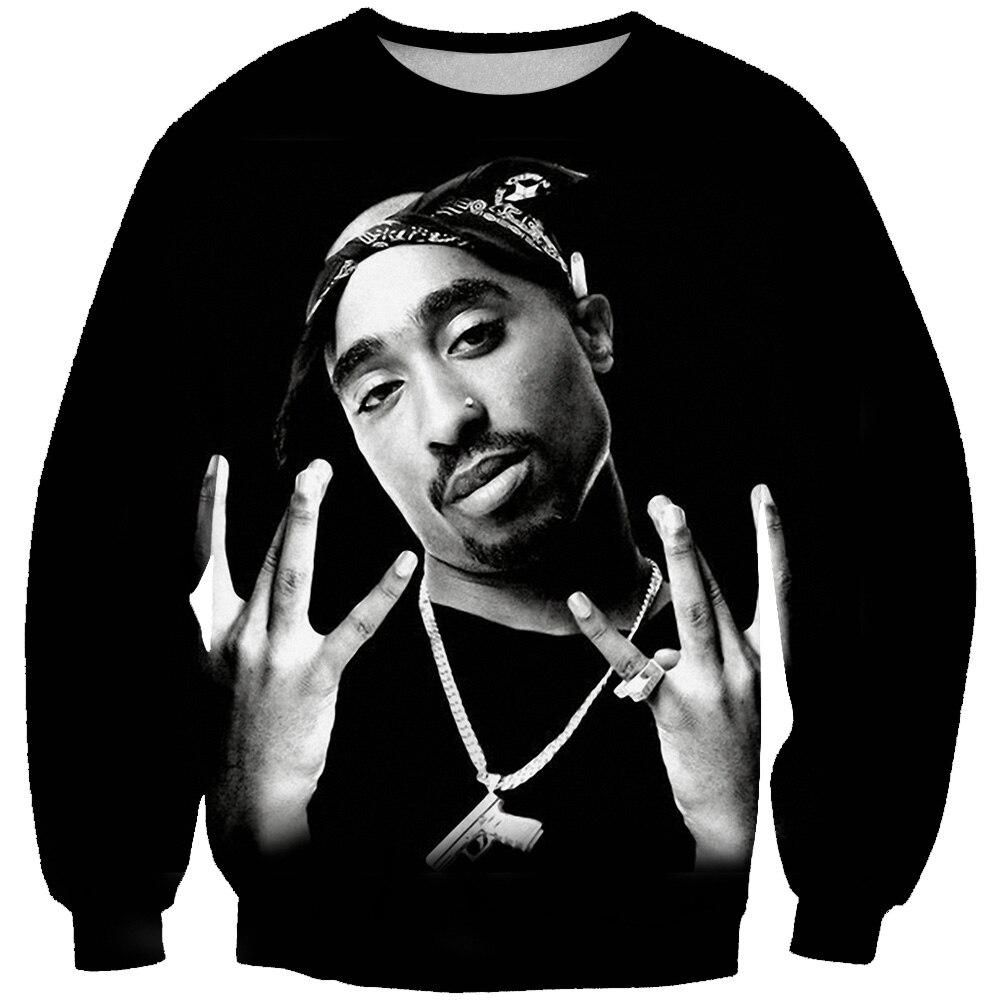 BZPOVB 2019 New Autumn Harajuku 3d Hoodies Legend Rapper 2pac Tupac Print Sweatshirt Men/Women O-Neck Hoodie Pullovers